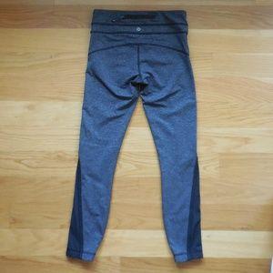 """$108~LULULEMON~Heathered Black 25"""" Tights/Pants~4"""